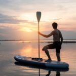 stand up paddle coucher soleil